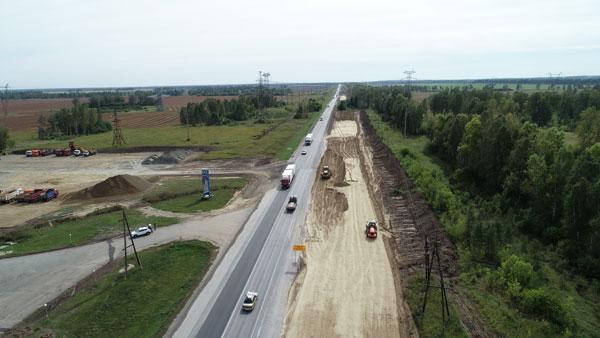 Дорожники взялись расширить четырех полос км Чуйского тракта Барнаула Новосибирску