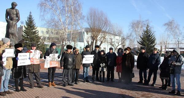 Барнаульские оппозиционеры полным составом почтили память убитого Бориса Немцова