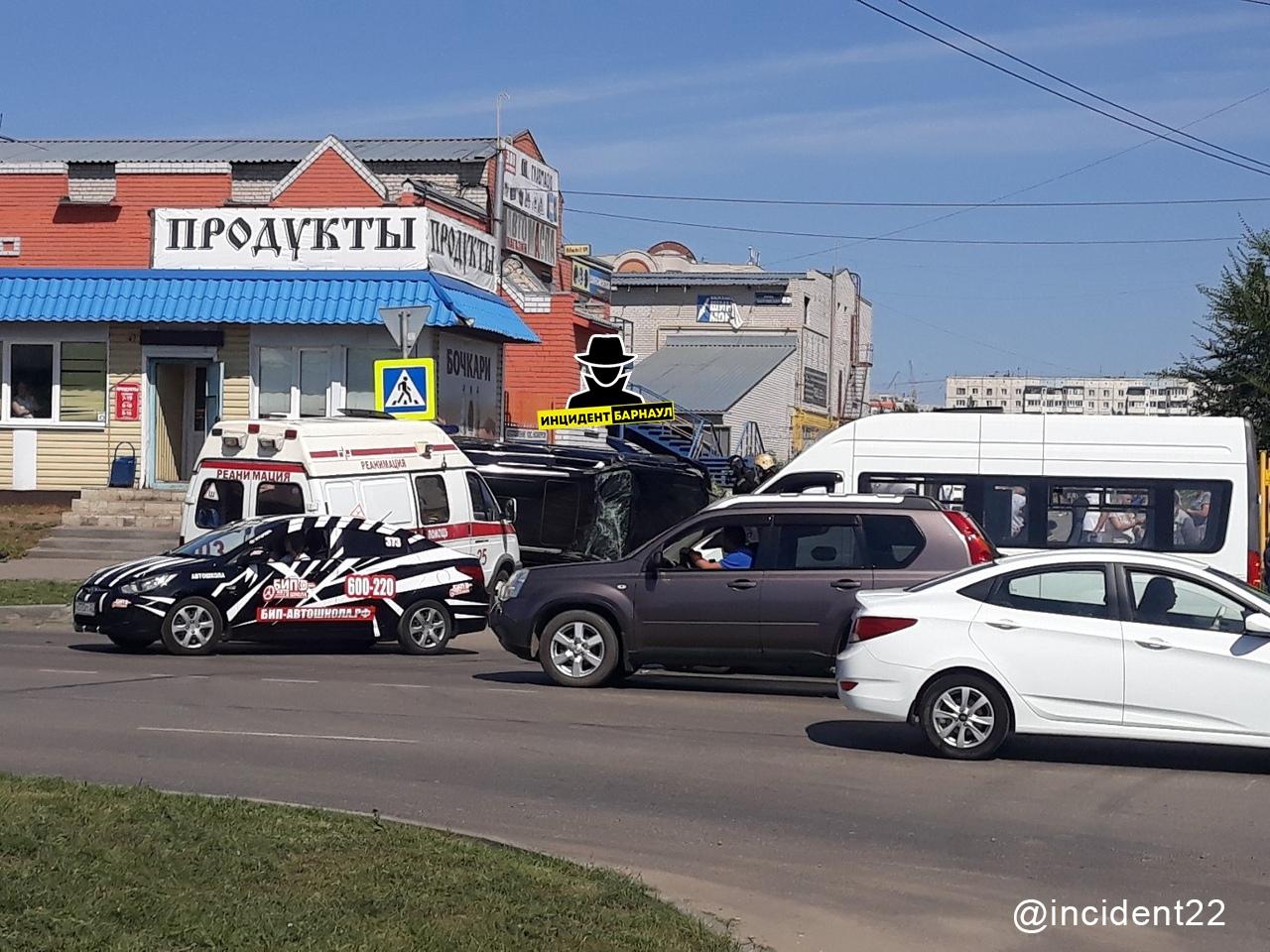Полиция записала счет водителя маршрутки аварию люксовой иномаркой Барнауле
