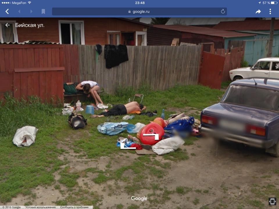 Google замазал спящих жителей наулице Новоалтайска