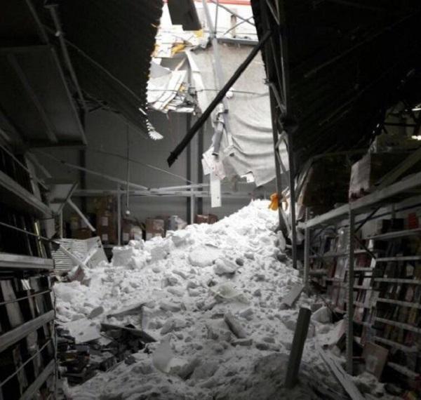 ВБарнауле обрушилась крыша торгового центра
