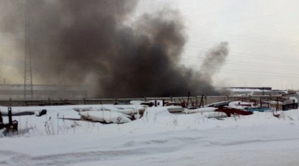 ВБарнауле горело офисное сооружение на9 Заводском проезде