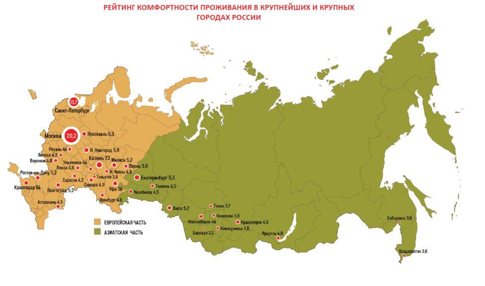 Новокузнецк, Томск, иБарнаул признаны менее удобными для жизни городами