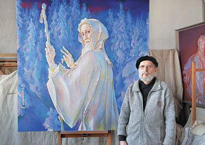 В Барнауле ушел из жизни Заслуженный художник России Леопольд  Художник с одной из своих работ
