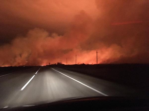 Жители Алтайского края оказались огненном плену время мощного урагана