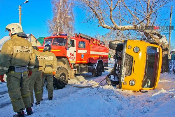 На Алтае машина сельсовета перевернулась дороге новогодний утренник