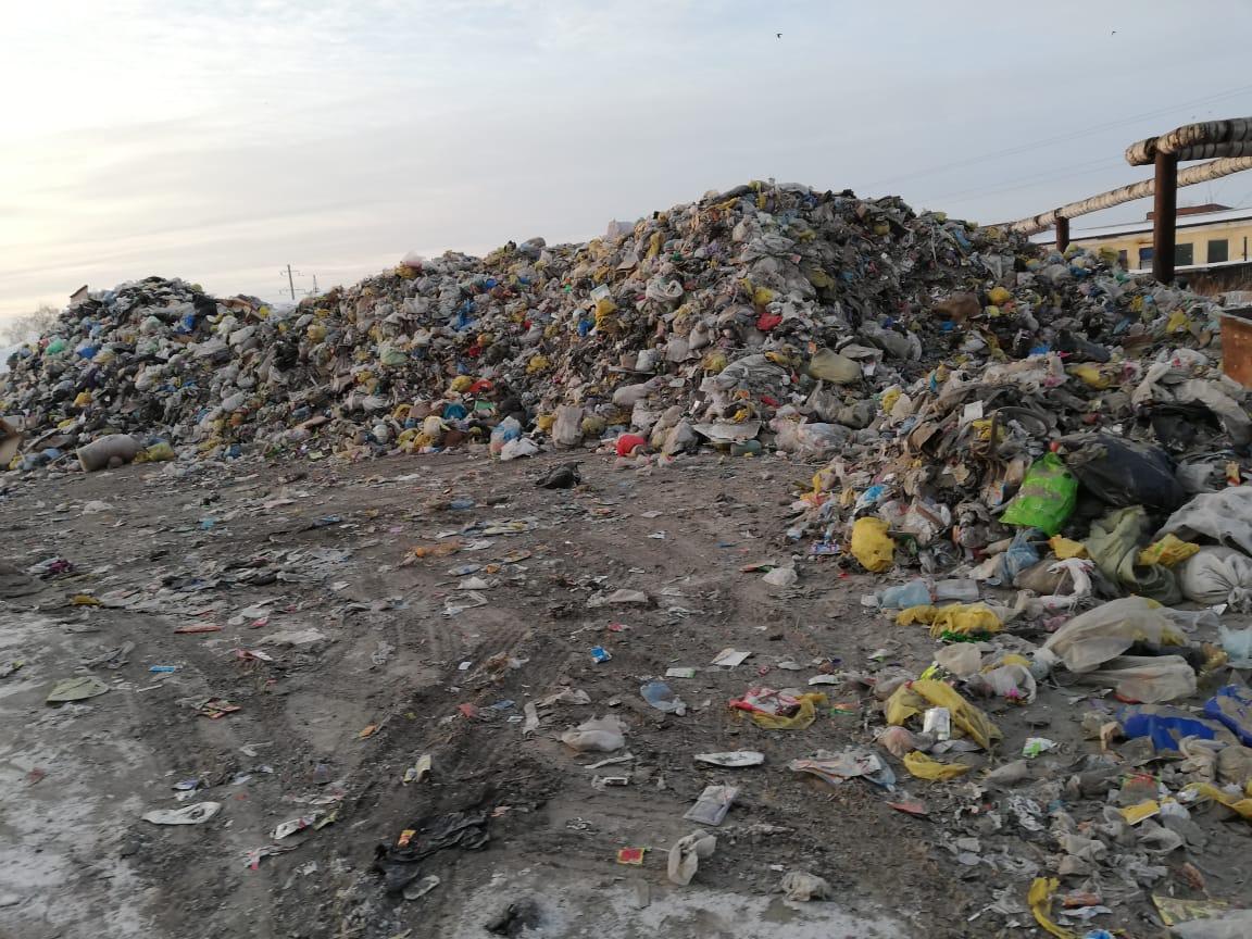 В условиях полигона бийский регоператор по нужде завалил мусором площадку близ центра города