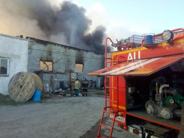 В промзоне Барнаула считанные минуты сгорел производственный местного предприятия
