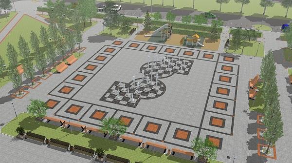 Ход конем месте полуразрушенного барнаульского сквера появится шахматный пешеходный фонтан
