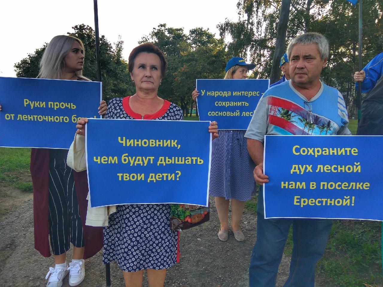 Барнаульские жириновцы вышли пикет против рубок сосен земле ленточного бора