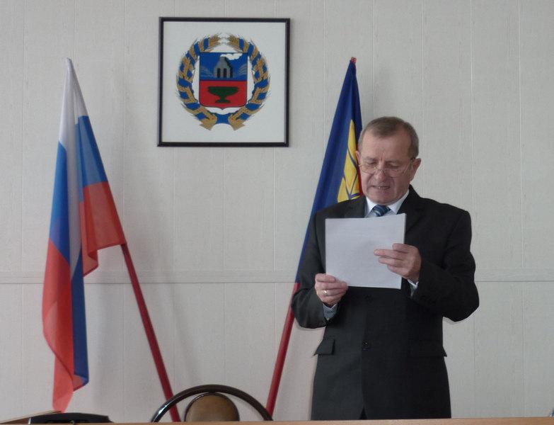 Депутаты райсовета Алтайском крае досрочно сместили своего председателя