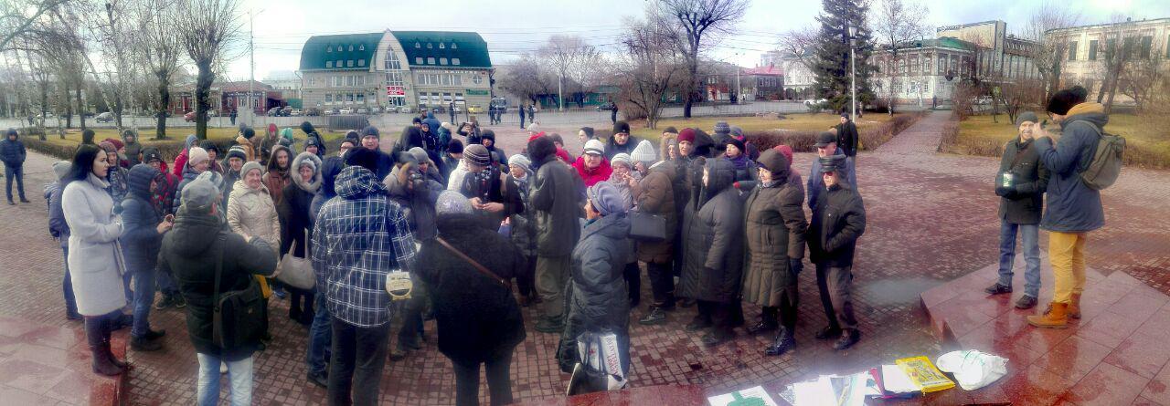 Более сотни барнаульцев публично выразили протест против уничтожения зеленых в городе