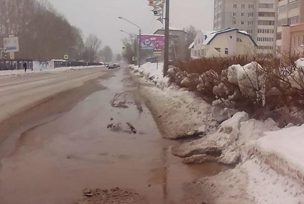 Барнаульские многоэтажки парк спорта остались воды из-за крупной аварии Индустриальном районе