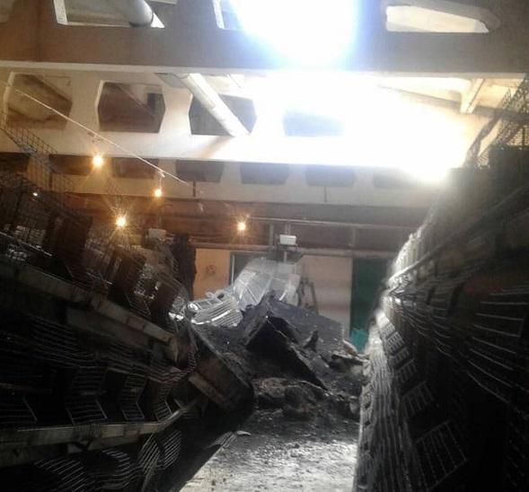 Очевидцы сообщили обрушении плит перекрытия здании алтайской птицефабрики