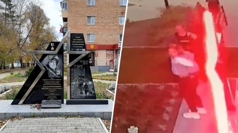 Пьяные подростки Приморье осквернили памятник геройски погибшему алтайскому летчику