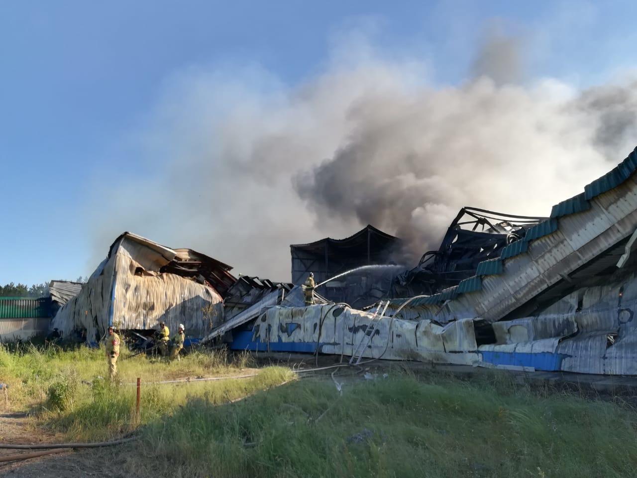 Эксперты и следователи разбираются причинах масштабного пожара предприятии Алтайский бройлер