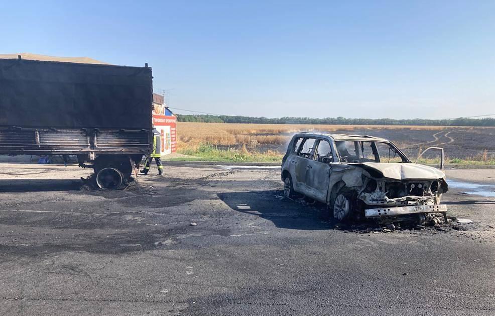 Жители Алтайского края пострадали огненной аварии перекинувшимся поля пламенем