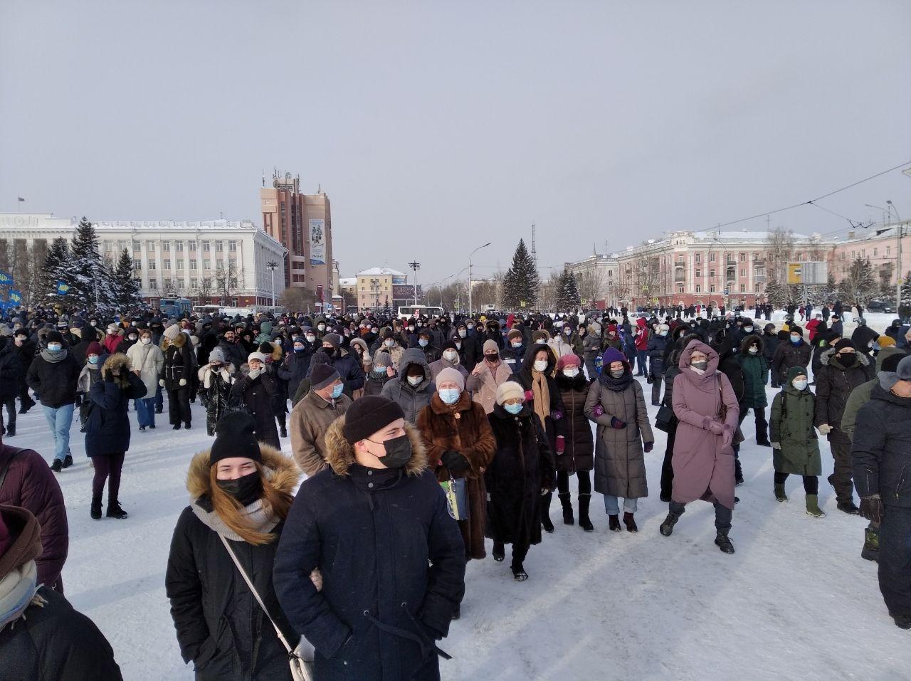 В Барнауле прошла несанкционированная акция поддержку Алексея Навального